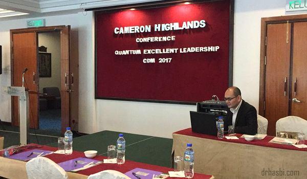 CDM Dr Hasbi dalam seminar Quantum Leadership Excellent Conference CDM 2017 usaha Eziproject